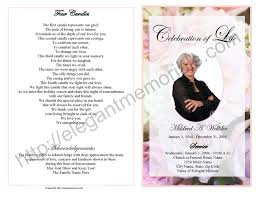 Funeral Programs Wording Celebration Of Life Service Program Sample Samples Of Memorial