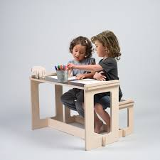 Toddler Table And Chairs Wood Black Table And Bench Kids Play Table Wood Bench Kids