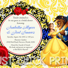 Beauty And The Beast Wedding Invitations Beauty And The Beast Bridal Shower Or Birthday Invitation