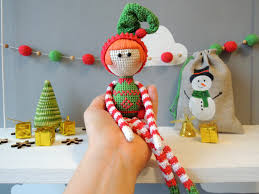 elf xmas amigurumi crochet art doll holiday gift ideas
