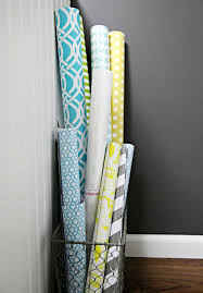 ways to store wrapping paper iheart organizing diy gift wrap organization station