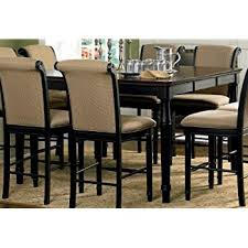 amazon com coaster cabrillo counter height two tone dining table