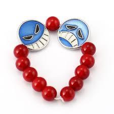red bead bracelet images One piece bracelet ace red bead bracelet men anime charm bracelets jpg