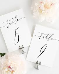 wedding table number fonts romantic calligraphy table numbers table numbers by shine