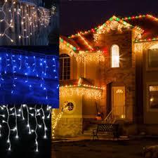 white icicle christmas lights 6m 10m 300 400 led icicle christmas fairy lights warm cool blue