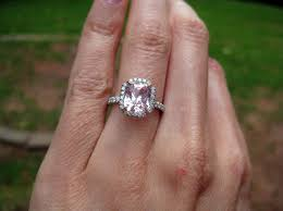 light pink engagement rings jewel of the week soft pink sapphire engagement ring pricescope