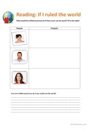 if i ruled the world 1st and 2nd conditional worksheet free