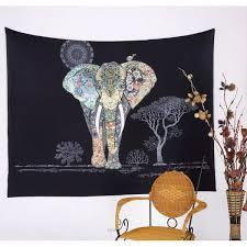 Bedroom Tapestry Indian Wall Bedroom by Aliexpress Com Buy Bohemian Elephant Indian Mandala Wall Hanging
