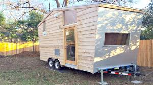 rv camper like tiny house on wheels with entrance u0026 back door