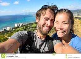 Hawaii Travel Man images Selfie couple travel fun with honolulu hawaii stock image image jpg