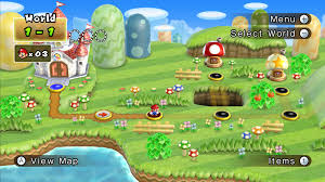 Super Mario World Map by World 1 New Super Mario Bros Wii Mariowiki Fandom Powered