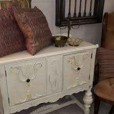 small antique buffet in vintage cream vintage chic painting