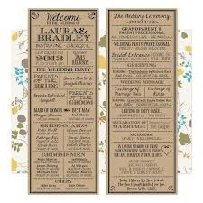 best 25 wedding programs vintage ideas on wedding