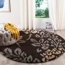 Orange And Brown Area Rugs Safavieh Florida Shag Dark Brown Gray 6 Ft 7 In X 6 Ft 7 In