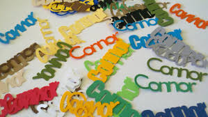 personalized name name confetti