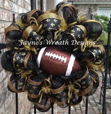 saints ribbon saints football wreaths with fleur de lis ribbon def not a fan but
