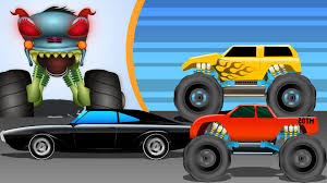 monster truck videos kids haunted house monster truck haunted house monster truck war