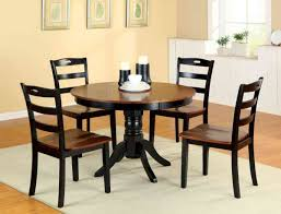 fabulous solid wood round dining table with leaf including hidden