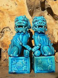 blue foo dogs blue foo dogs collection on ebay