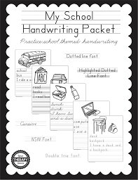 zaner bloser writing paper printable my school handwriting packet your therapy source