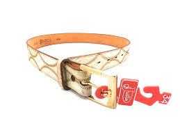 mens vintage new old stock elephant leather belt justin choose