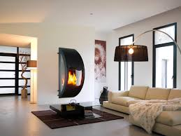 Modern White Living Room Designs 2015 Living Room Impressive Hanging Fireplace For Modern Home