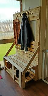bench and coat rack ideas bench decoration
