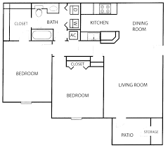 floor plan of 3 bedroom flat bridlewood apartment homes southwood realty company