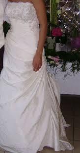robe de mari e arras de mariée cosmobella 7262 couleur écru