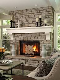 stone fireplace with white mantle add the finials to your fireplace mantle