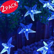 2pack qedertek starfish solar string lights 30 led