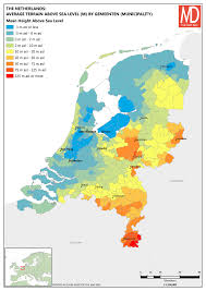 netherlands height map polder and wiser the netherlands the map den