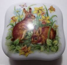 easter plays vintage porcelain box easter plays easter parade bunnies