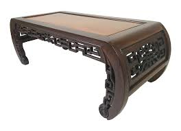 antique chinese carved rosewood kang coffee table chairish