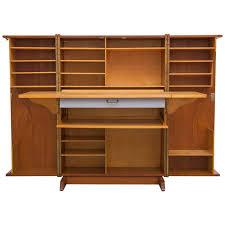 Furniture Secretary Desk Cabinet by Mummenthaler And Meier Teak U0027magic Box U0027 Fold Out Secretary Desk