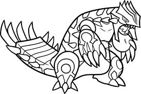 coloriage primo groudon pokemon à imprimer