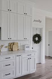 white kitchen cabinets with black drawer pulls modern farmhouse kitchen white kitchen shaker cabinets