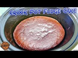 crock pot chocolate fudge cake recipe how to make video youtube