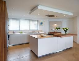 suspended ceiling with lights and flat extractor kitchen