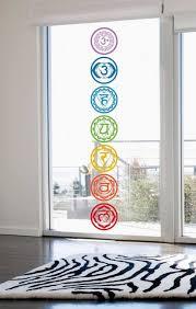 vinyl stickers chakras symbol yoga wall decals 7pcs set