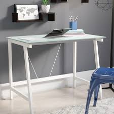 Contemporary Writing Desk Zipcode Design Chane Contemporary Glass Writing Desk U0026 Reviews