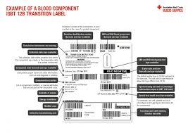 isbt 128 transition label australian red cross blood service