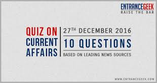 current affairs quiz for 27th december 2016 rapid