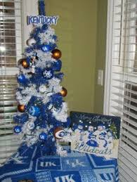 our of kentucky blue white tree in the basement