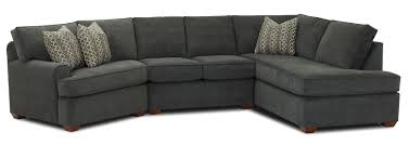 Living Room Sectionals With Chaise Hybrid Sectional Sofa With Right Facing Sofa Chaise By Klaussner