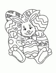 funny easter bunny coloring page for kids coloring pages
