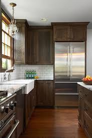 brown stained kitchen cabinets portfolio fiddlehead design home kitchens brown