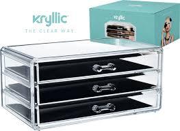 amazon com acrylic jewelry cosmetic vanity organizer great box