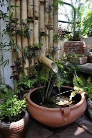 Water Feature Ideas For Small Backyards Best 25 Bamboo Fountain Ideas On Pinterest Japanese Water