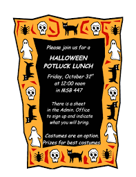 halloween potluck lunch anatomy and cell biology western